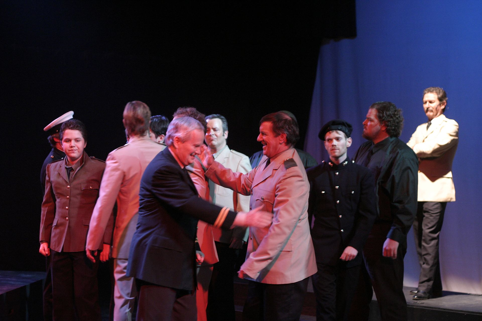 Ashton McElroy, Bill Watson, Randy Young, David Young, Darren Stewart, Christi Neahr and Richard Heyman in Evita