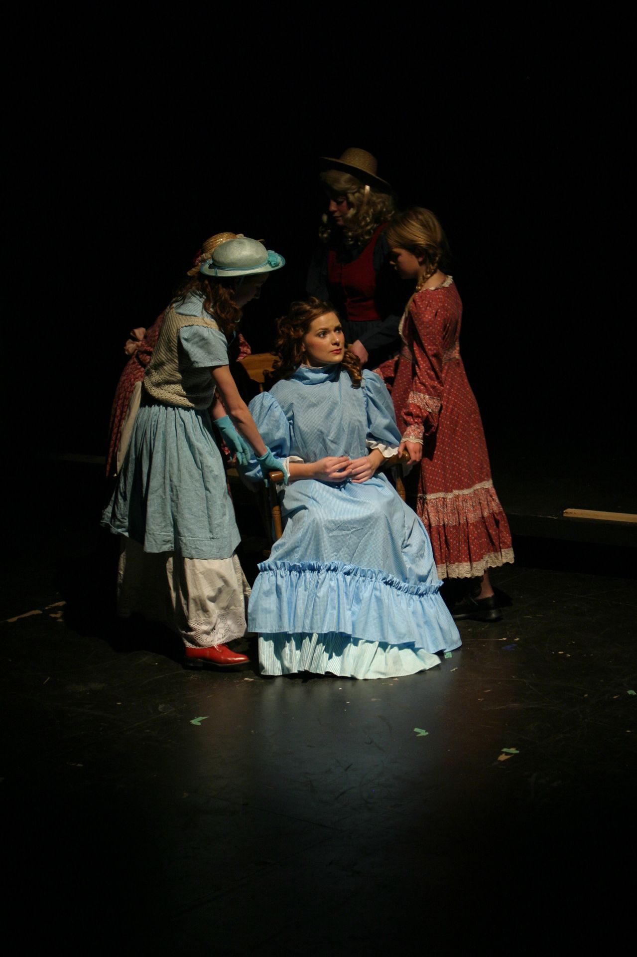 Andrea Timmons, Allison O'Toole, Annie Pentney and Kira Daly in Oklahoma