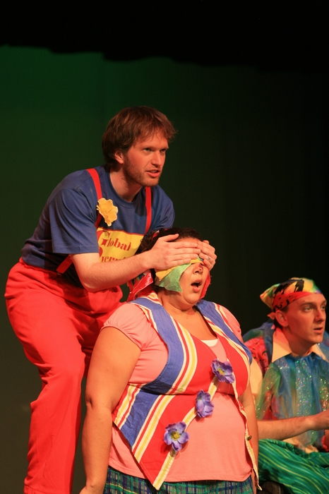 Janos Zeller, Jolene Anderson and Chris Willott in Godspell