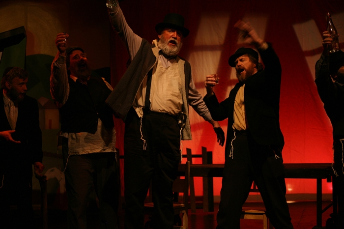 Shea Christie, Jim Fellows, Tom Cuthbertson and Michael Brown in Fiddler on the Roof