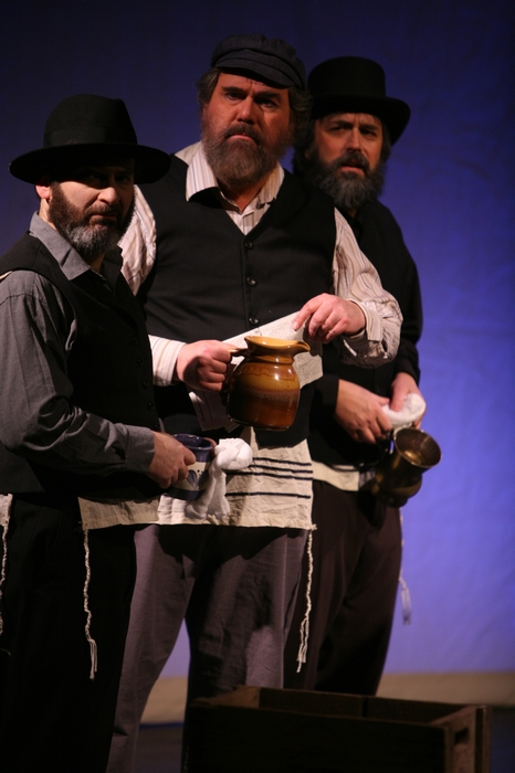 Gary Silberg, Jim Fellows and Perry Mack in Fiddler on the Roof