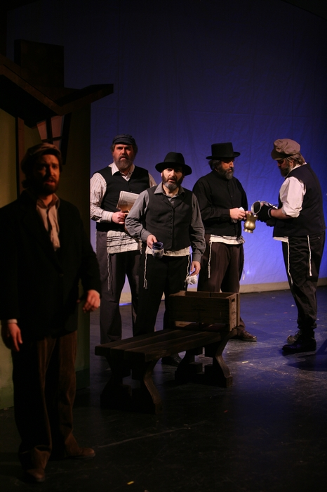 Lazlo Finnegan, Jim Fellows, Gary Silberg, Perry Mack and George Smith in Fiddler on the Roof