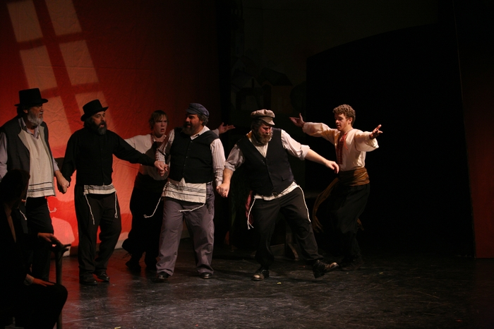 Tom Cuthbertson, Perry Mack, Kevin Ray, Jim Fellows, George Smith and David Wiens in Fiddler on the Roof