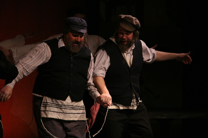 Jim Fellows and George Smith in Fiddler on the Roof