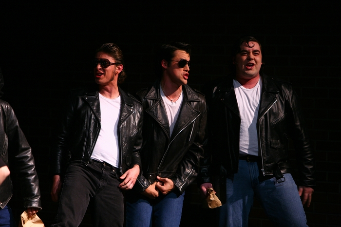 Keiffer Davies, Riley Ohler and Devon Hall in Grease