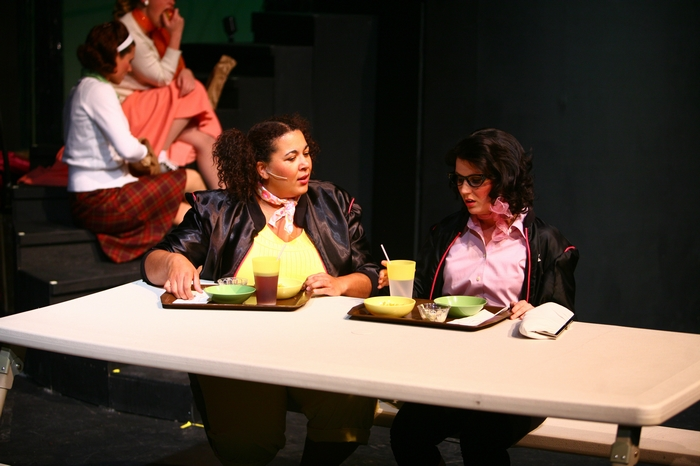 Jolene Anderson and Ashlyn Beatty in Grease