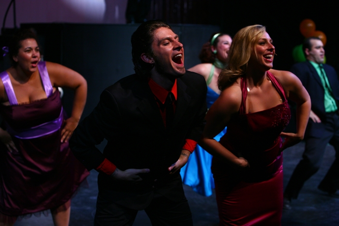 Keiffer Davies, Lyndsey Paterson and Jolene Anderson in Grease