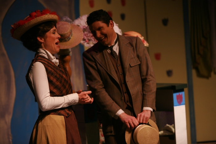 Christine Horne and James Noonan in Hello Dolly!