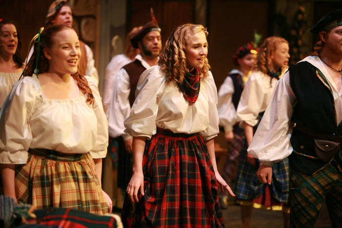 Malina Jensen and Evelyn Long in Brigadoon
