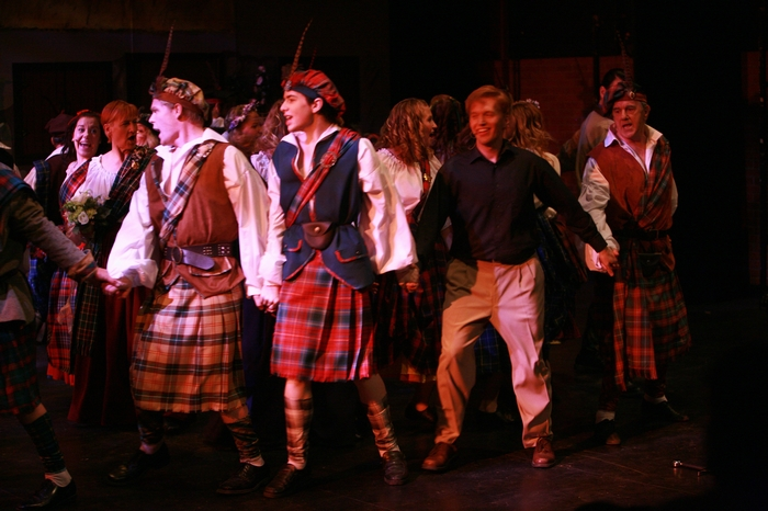 Rob Kellas, Bryce Christianson, Janos Zeller and David Young in Brigadoon