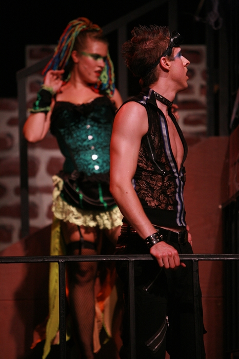 Tanis Laatsch and Cody Field in Rocky Horror Show