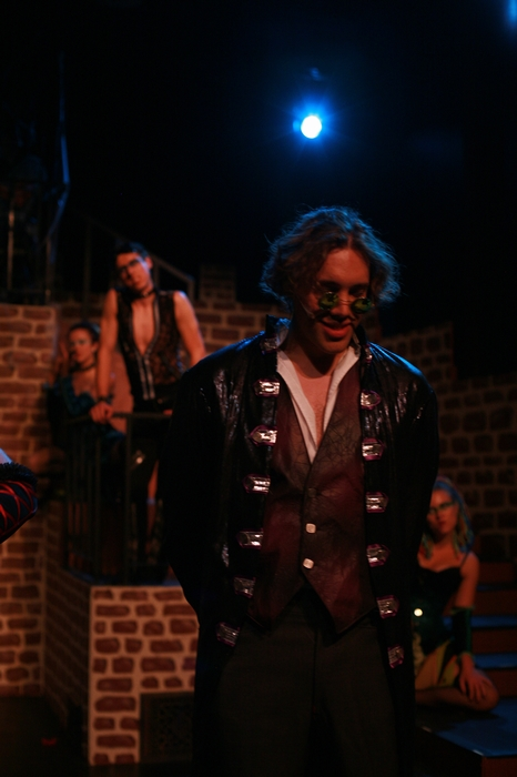 Danielle Desmarais, Cody Field, Berkeley Pickell and Tanis Laatsch in Rocky Horror Show