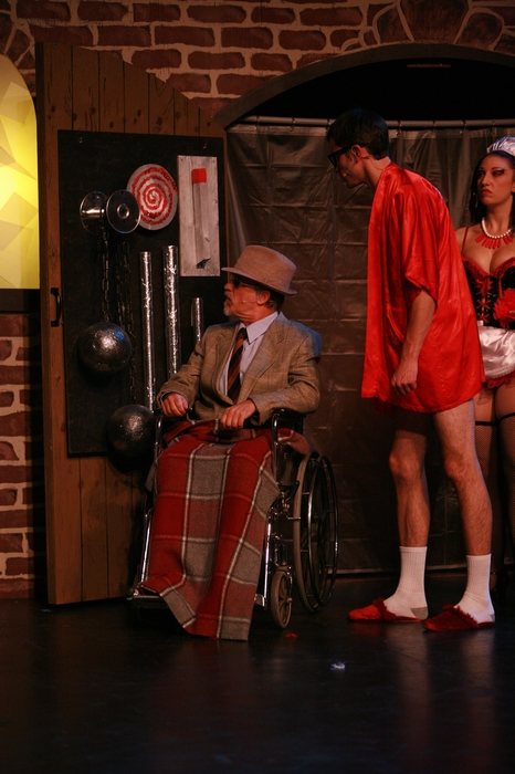 Roy Styan, Kevin Trumble and Shana Nowlin in Rocky Horror Show