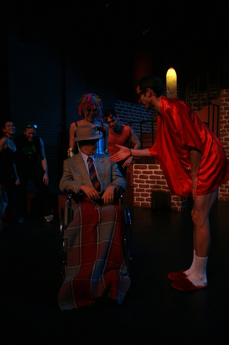 Ginette Simonot, Roy Styan and Kevin Trumble in Rocky Horror Show