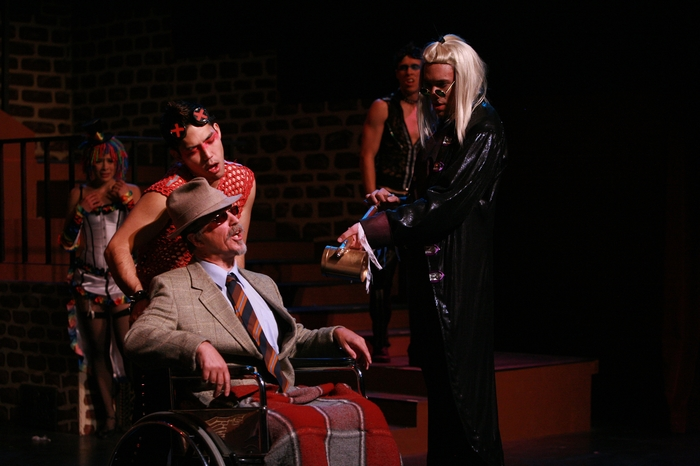 Ginette Simonot, Matthew McDonald, Roy Styan, Cody Field and Berkeley Pickell in Rocky Horror Show