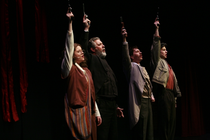 Nick Driscoll, Brian Unterschultz, Chloe Marshall and Janos Zeller in Assassins