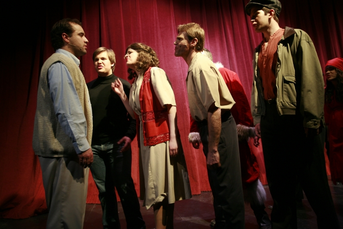 Philip Frias, Joel Schaefer, Chloe Marshall, Van Ridout, Nick Driscoll and Shelby Leiding in Assassins