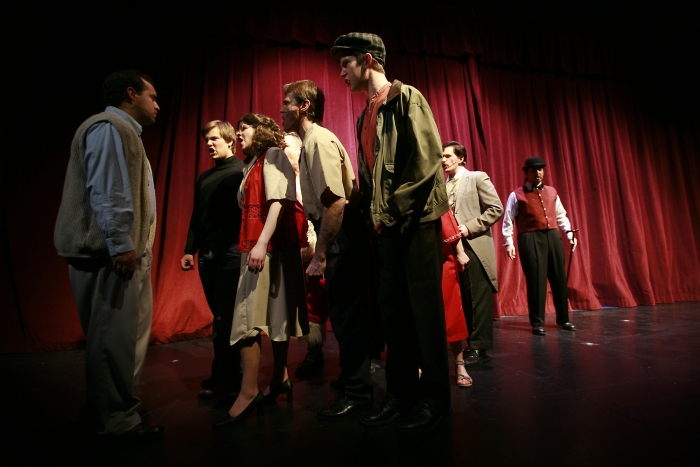 Philip Frias, Joel Schaefer, Chloe Marshall, Joe White, Van Ridout, Nick Driscoll, Janos Zeller and Jevon Hills in Assassins