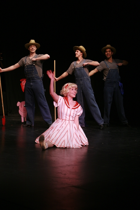 Jarryd Baine, Taryn Craig, Graeme Humphrey and Matthew McDonald in Gypsy