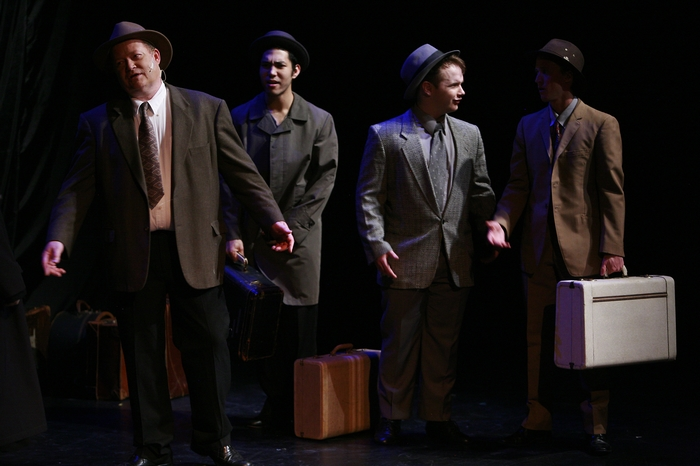 Scottie Grinton, Matthew McDonald, Nicholas Chamberlain and Graeme Humphrey in Gypsy