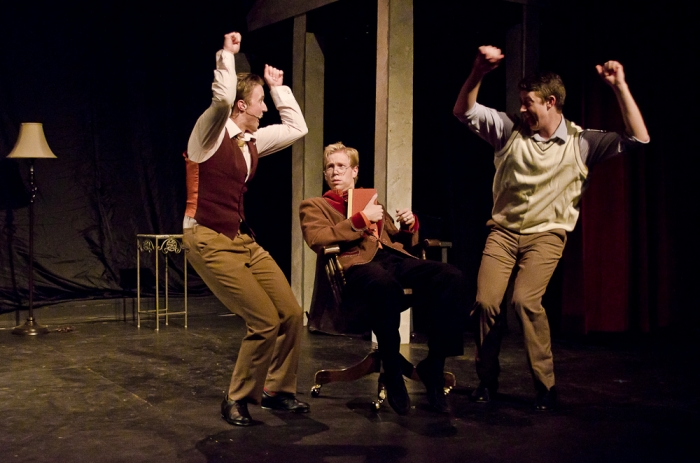 Graeme Humphrey, Jamie Eastgaard-Ross and Jarryd Baine in Singin' in the Rain