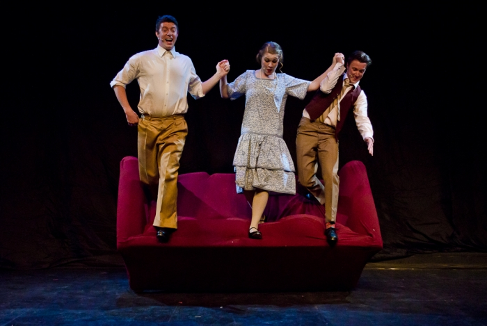 Jarryd Baine, Tanis Laatsch and Graeme Humphrey in Singin' in the Rain