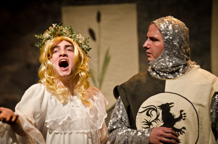 Stuart MacLeod and James McGowan in Monty Python's Spamalot