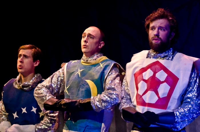 Cody Field, Chris Willott and Jeremy Verkley in Monty Python's Spamalot