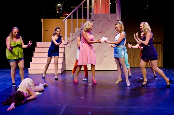 Meaghan Hommy, Alecia Pagnotta, Ainsley Ohler, Tanis Laatsch and Eden Hildebrand in Legally Blonde