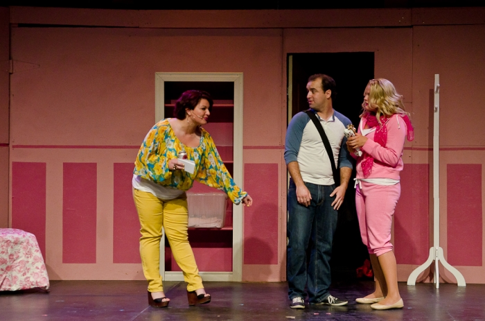 Katelyn Morishita, Philip Frias and Ainsley Ohler in Legally Blonde