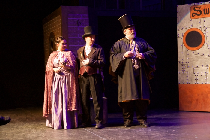 Vicki Trask, David Mottle and Jim Fellows in My Fair Lady