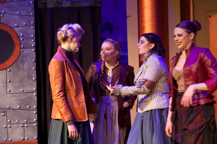 Evelyn Long, Chantal Brosseau, Carleigh Cartmell and Ginette Simonot in My Fair Lady