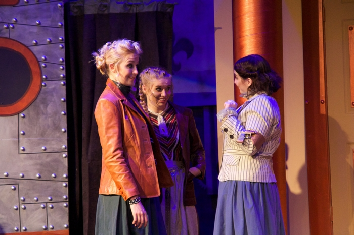 Evelyn Long, Chantal Brosseau and Carleigh Cartmell in My Fair Lady
