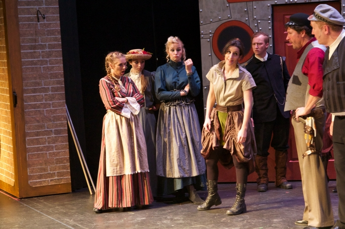 Chantal Brosseau, Chloe Diochnos, Evelyn Long, Anne-Marie Cotton, David Mottle and James Noonan in My Fair Lady
