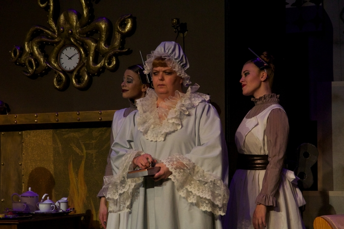 Ginette Simonot, Jill Howell-Fellows and Tanis Laatsch in My Fair Lady