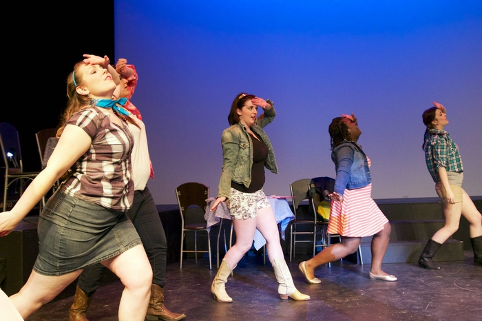 Samantha Bellamy-Smith, Carleigh Cartmell, Jessica Jones and Desiree Kenny in Footloose