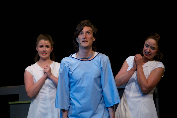 Kayleigh Udy, Lucas Seeger and Nicole Bouwman in Young Frankenstein