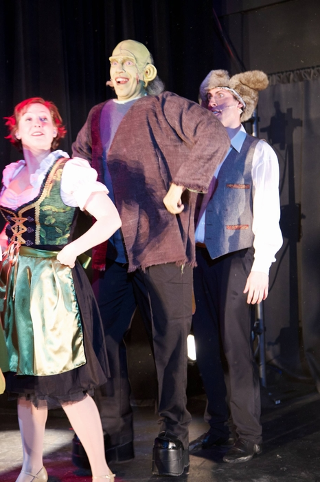 Mikee Ames, Jamie Eastgaard-Ross and Cody Field in Young Frankenstein