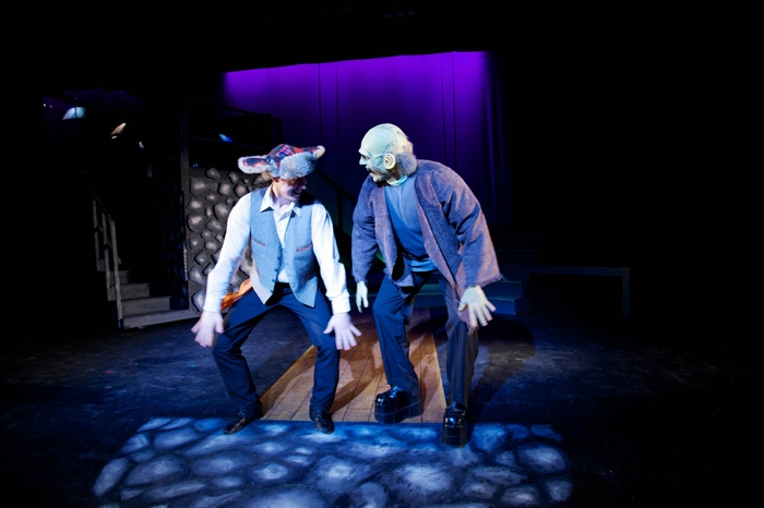 Cody Field and Jamie Eastgaard-Ross in Young Frankenstein