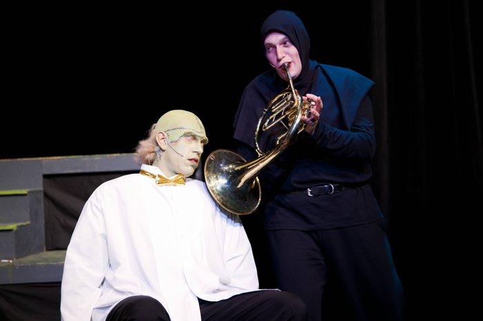 Jamie Eastgaard-Ross and Janos Zeller in Young Frankenstein