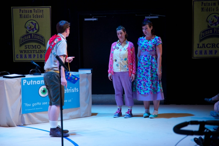 Andrew Stewart, Caitlyn Milot and Allyson Foster in The 25th Annual Putnam County Spelling Bee