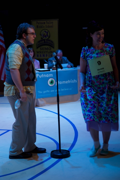 Tim Vollhoffer and Allyson Foster in The 25th Annual Putnam County Spelling Bee