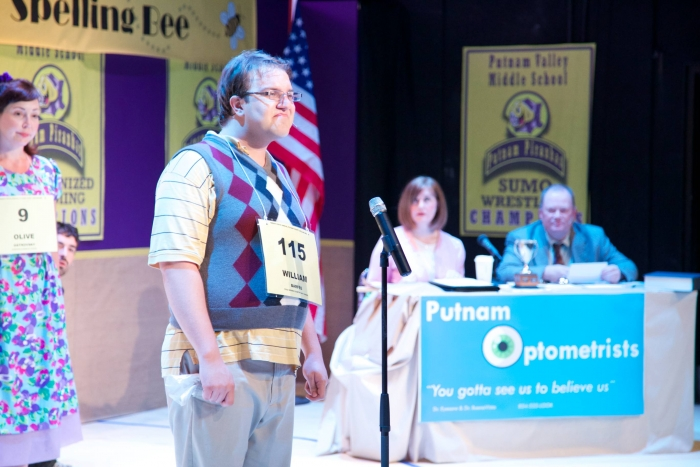 Allyson Foster, Tim Vollhoffer, Colleen Bishop and Scottie Grinton in The 25th Annual Putnam County Spelling Bee