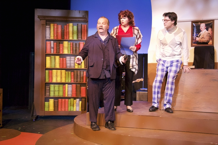 Clark Adams, Cherie Lee and Mike Sornberger in 9 to 5 The Musical