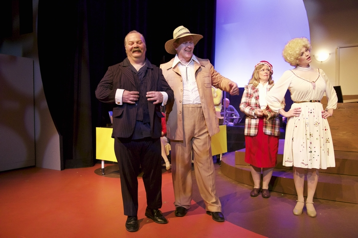 Clark Adams, Wayne Hunter, Jane Tetley and Jacqueline Richmond in 9 to 5 The Musical