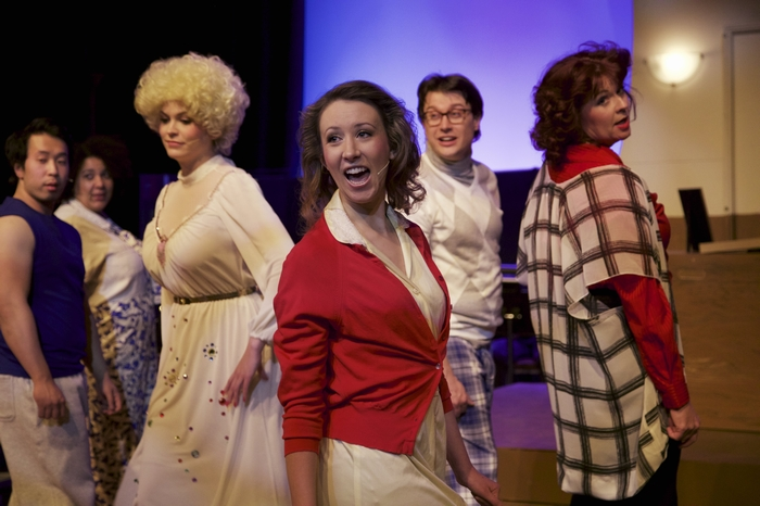 Jacqueline Reid, Christine Mooney, Mike Sornberger and Cherie Lee in 9 to 5 The Musical