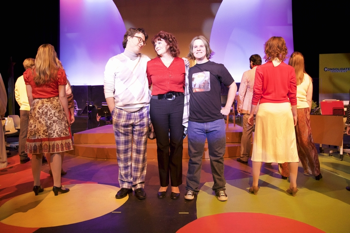 Mike Sornberger, Cherie Lee and Thompson Harper in 9 to 5 The Musical