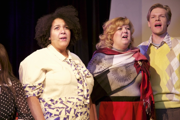 Jolene Anderson, Jill Howell-Fellows and Rob Kellas in 9 to 5 The Musical