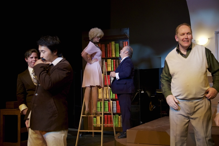 George Wang, Jacqueline Richmond, Clark Adams and Wayne Hunter in 9 to 5 The Musical