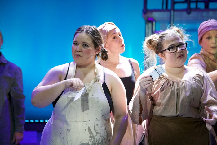 Vicki Trask, Ginette Simonot, Mollie-Risa Chapin and Sherry West in Urinetown